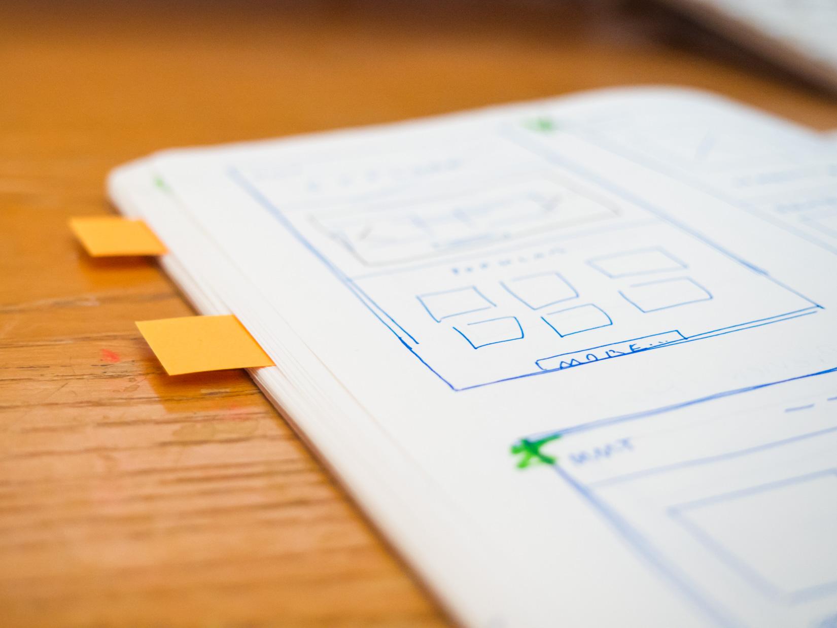 Sketchbook on Desk