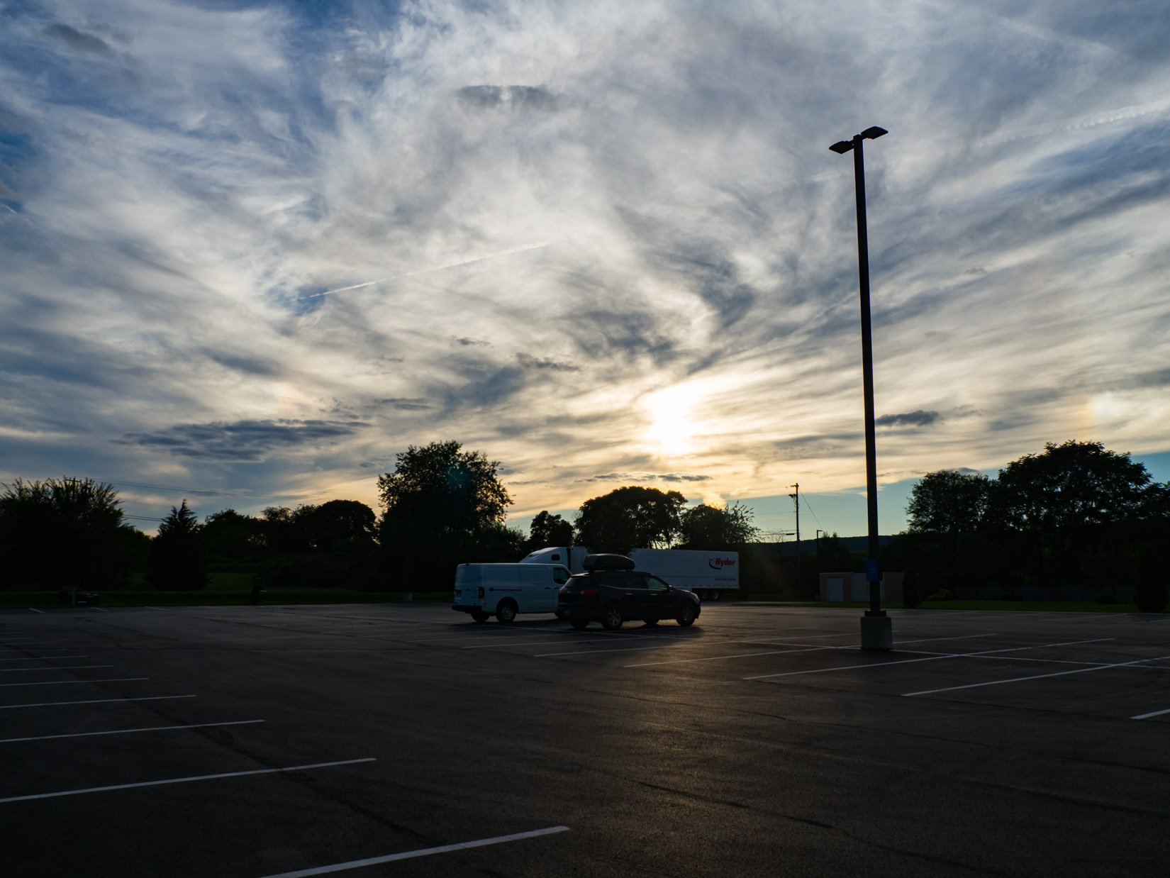 Sunset over Parking Lot