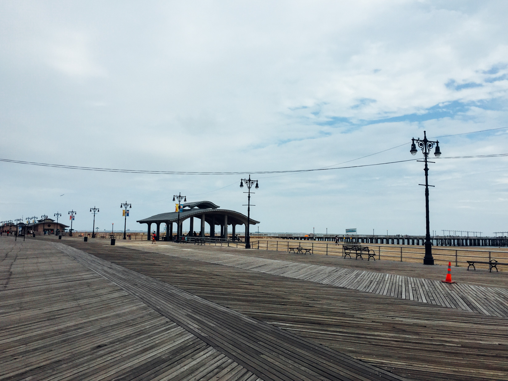 Boardwalk with Sand and Pier