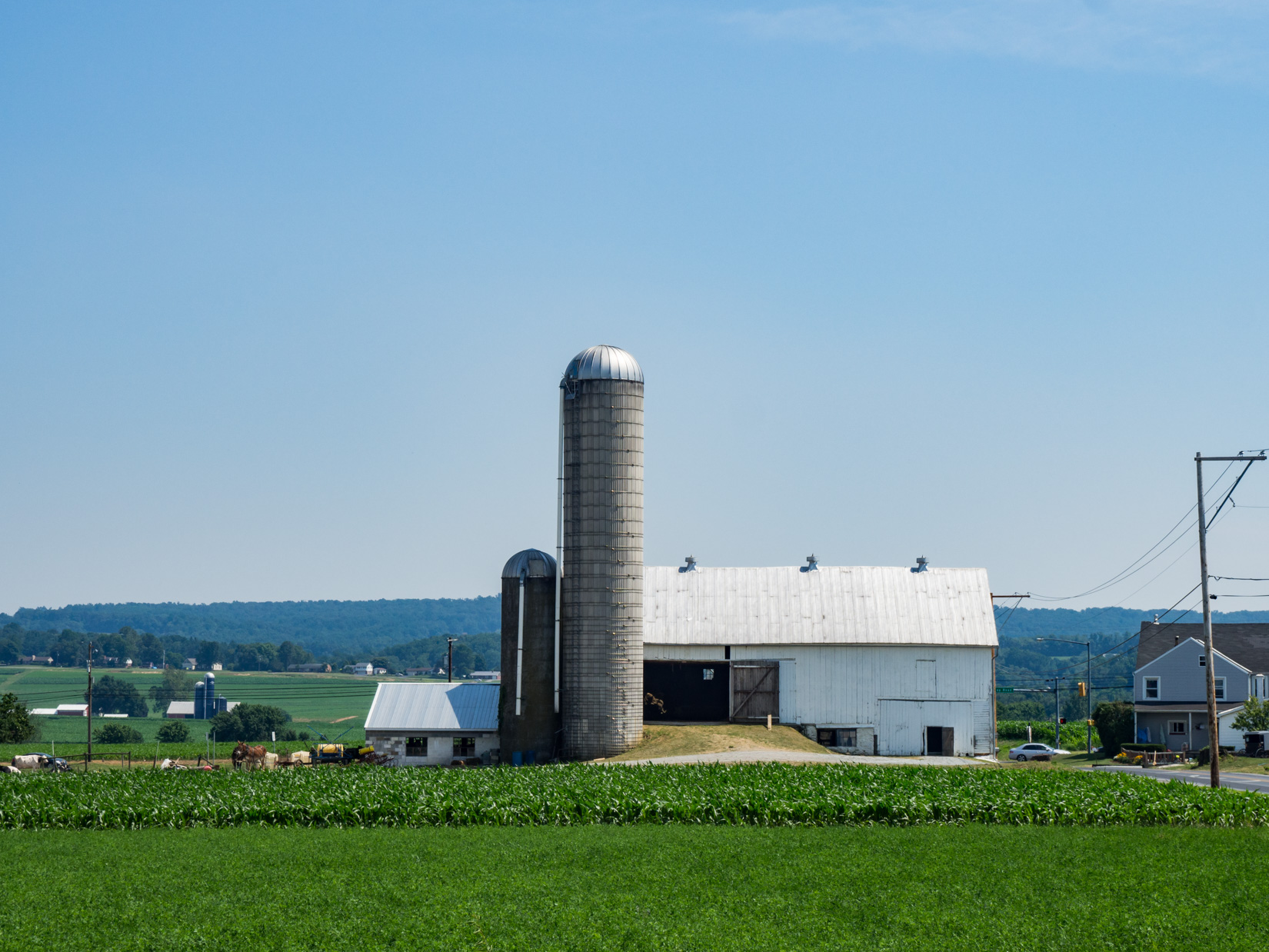 Farms with Barns and Silos