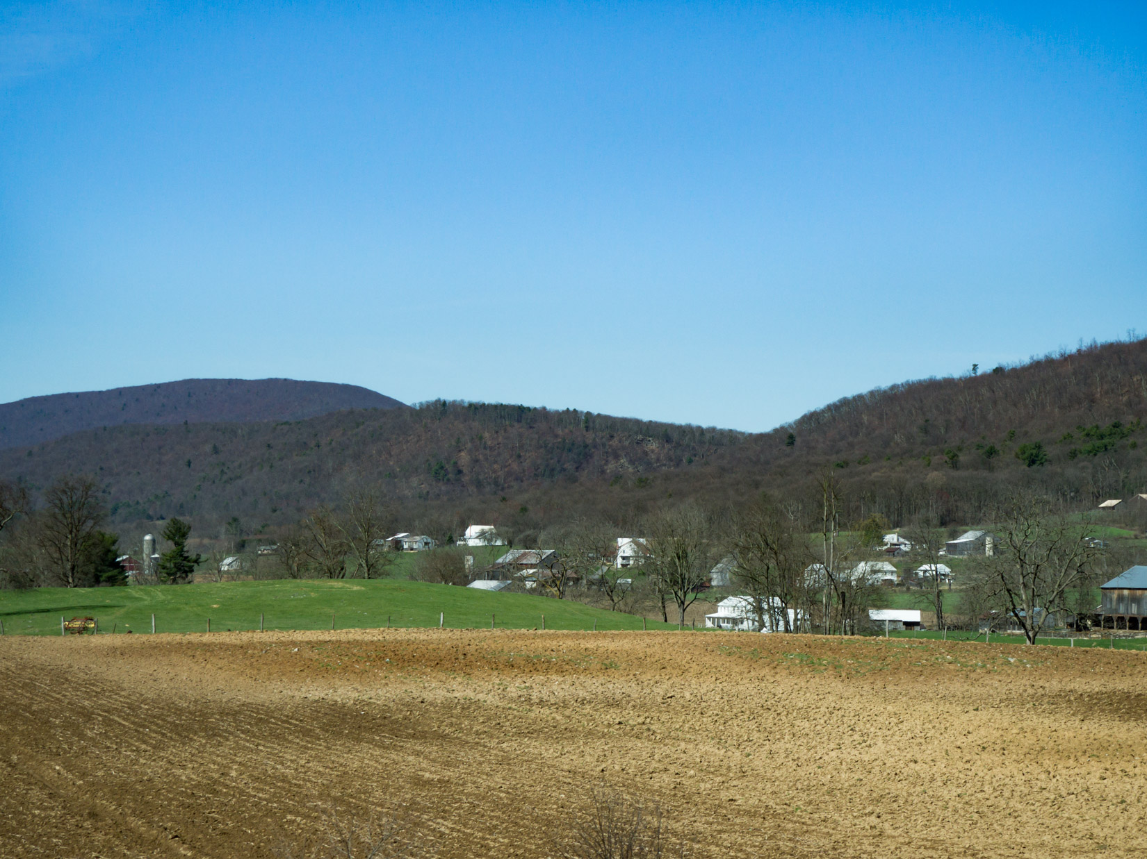 Field with Houses Over Blue Sky – FOCA