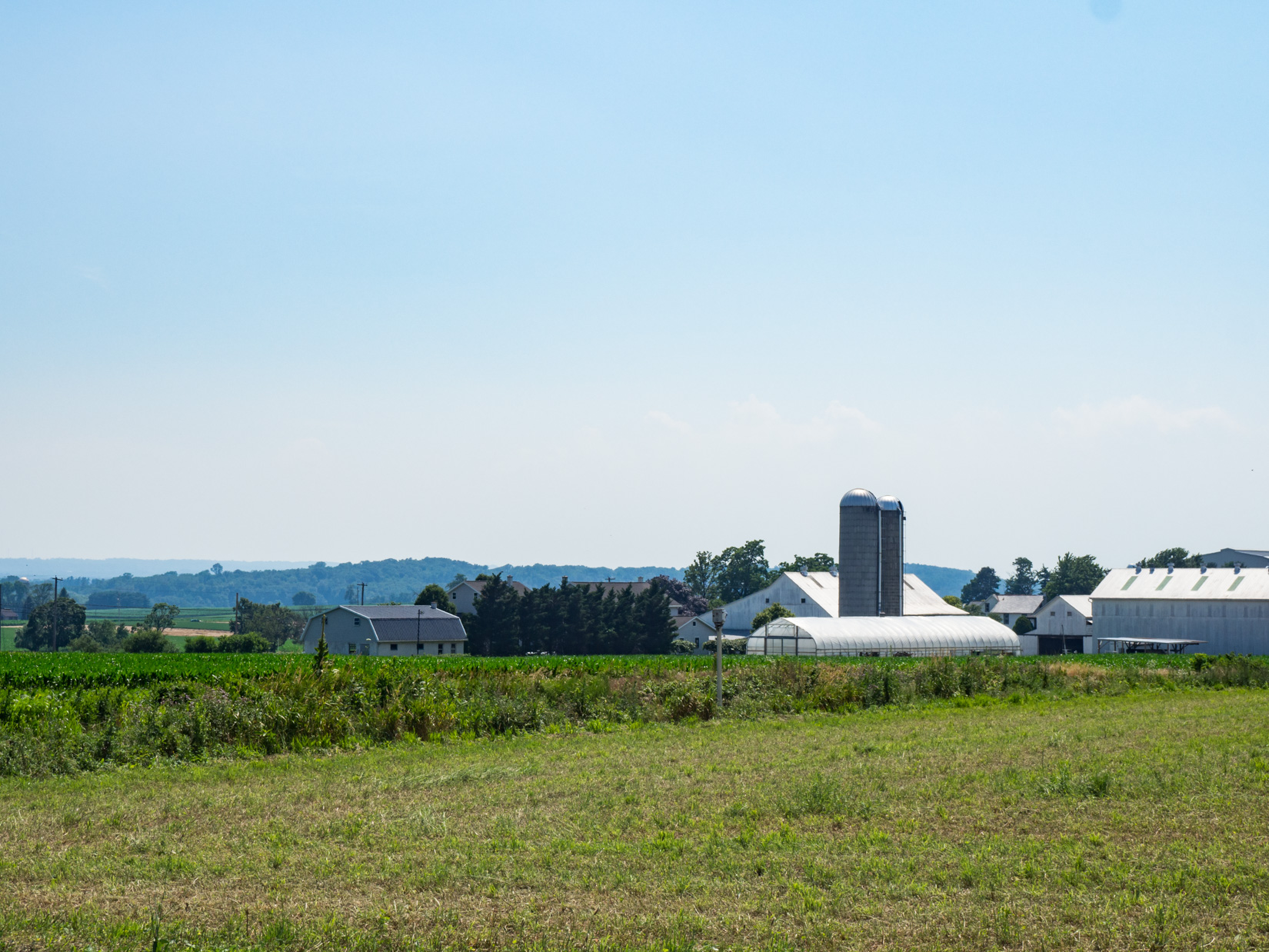 Farmland and Silos