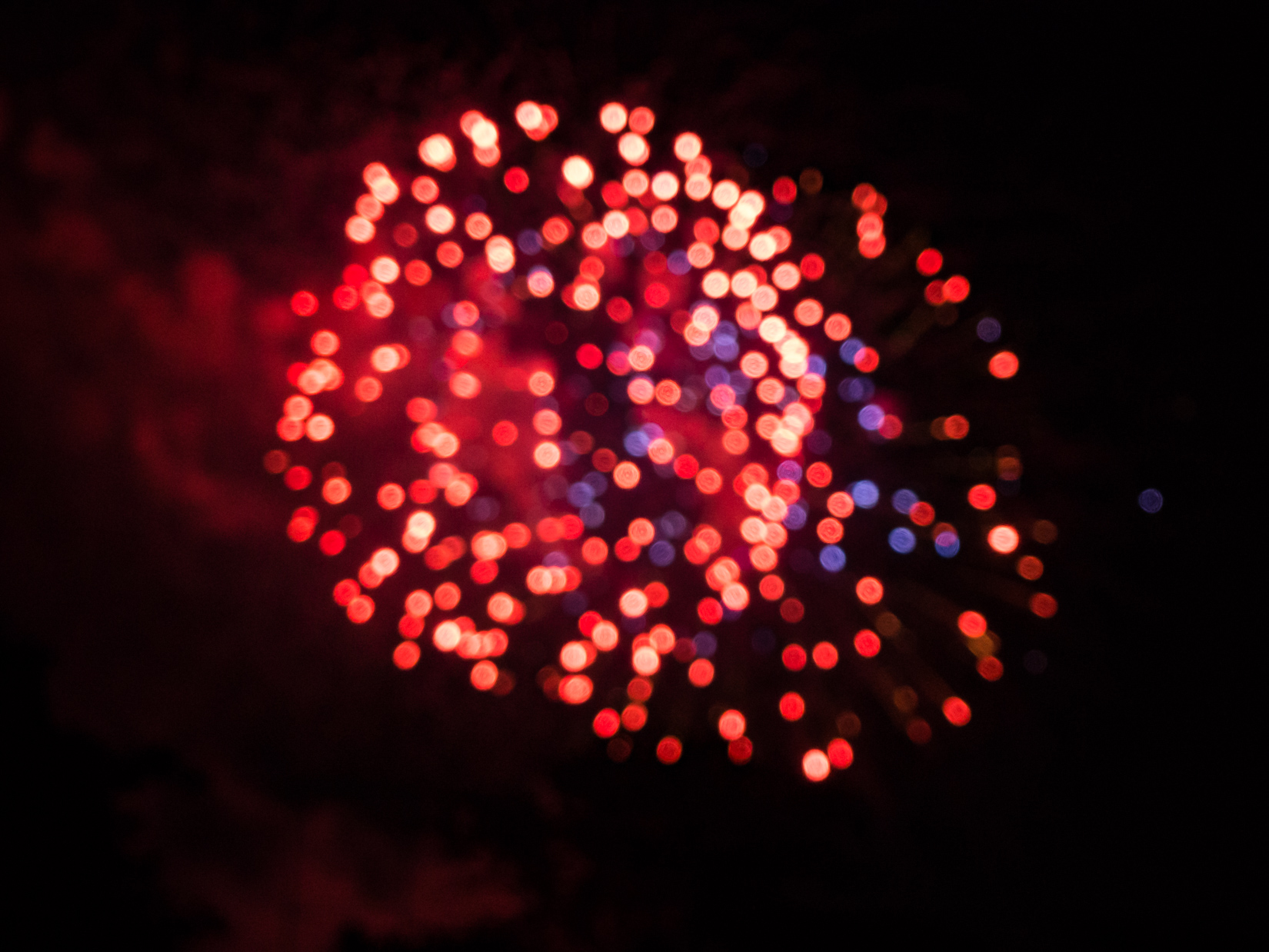 Blurred Fireworks