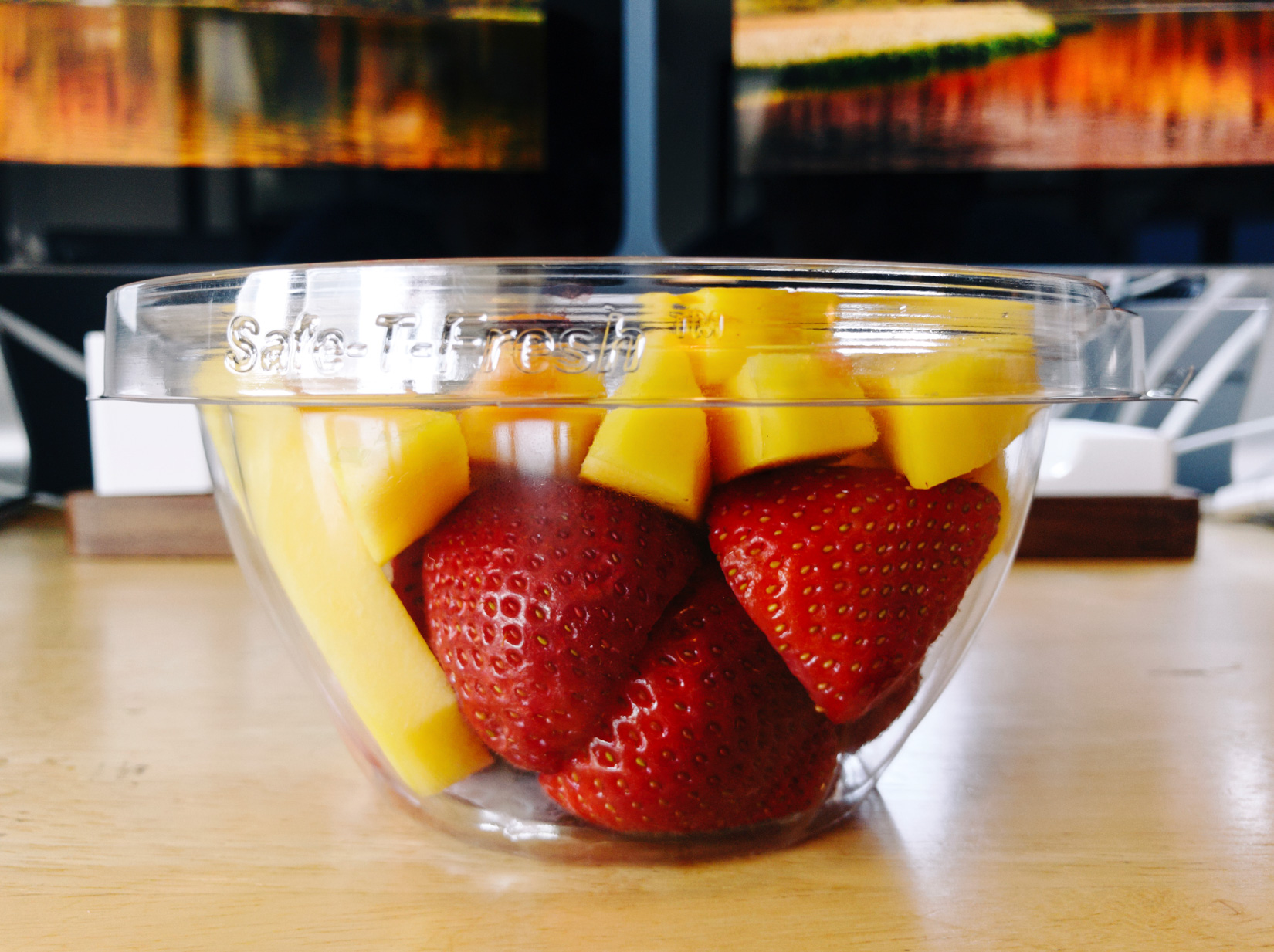 Mango and Strawberries