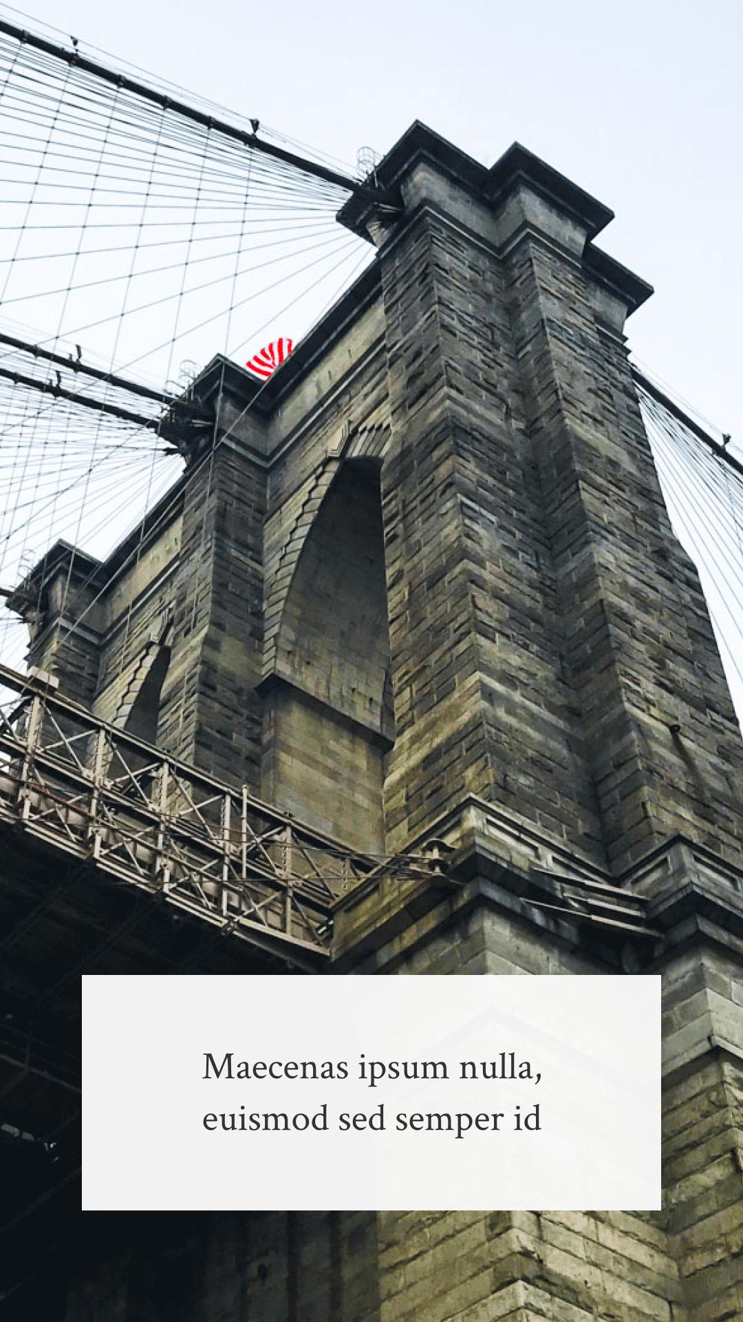 Bridge Background Photo with Text