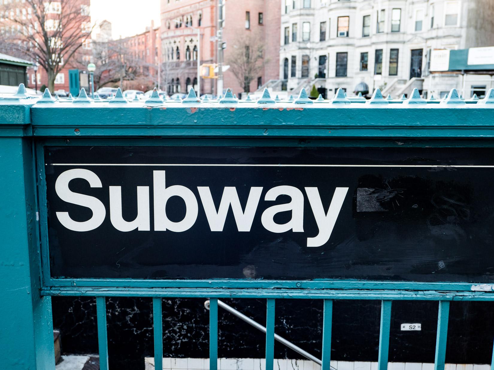 Subway Entrance Sign