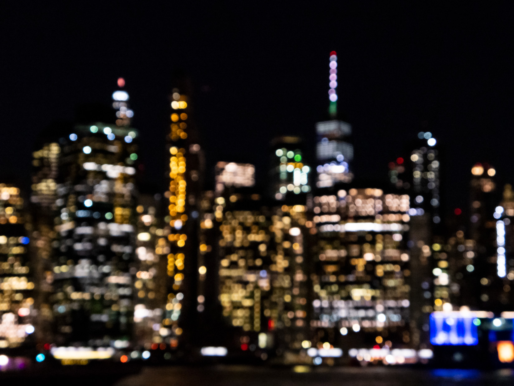 Blurred City Skyline