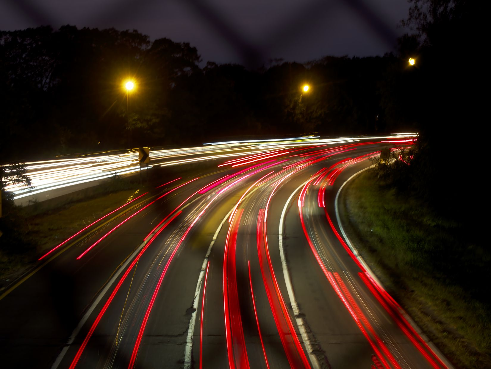 Long Exposure Cars on Highway