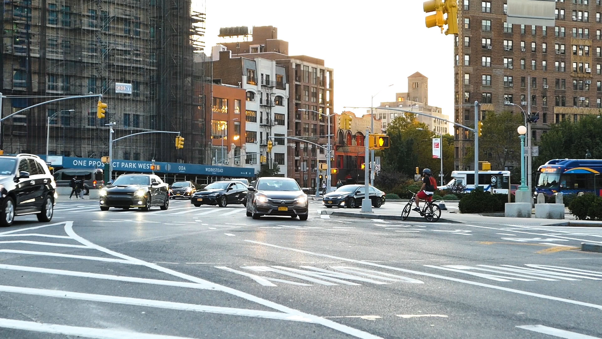 Cars and Bicycles on Brooklyn Street