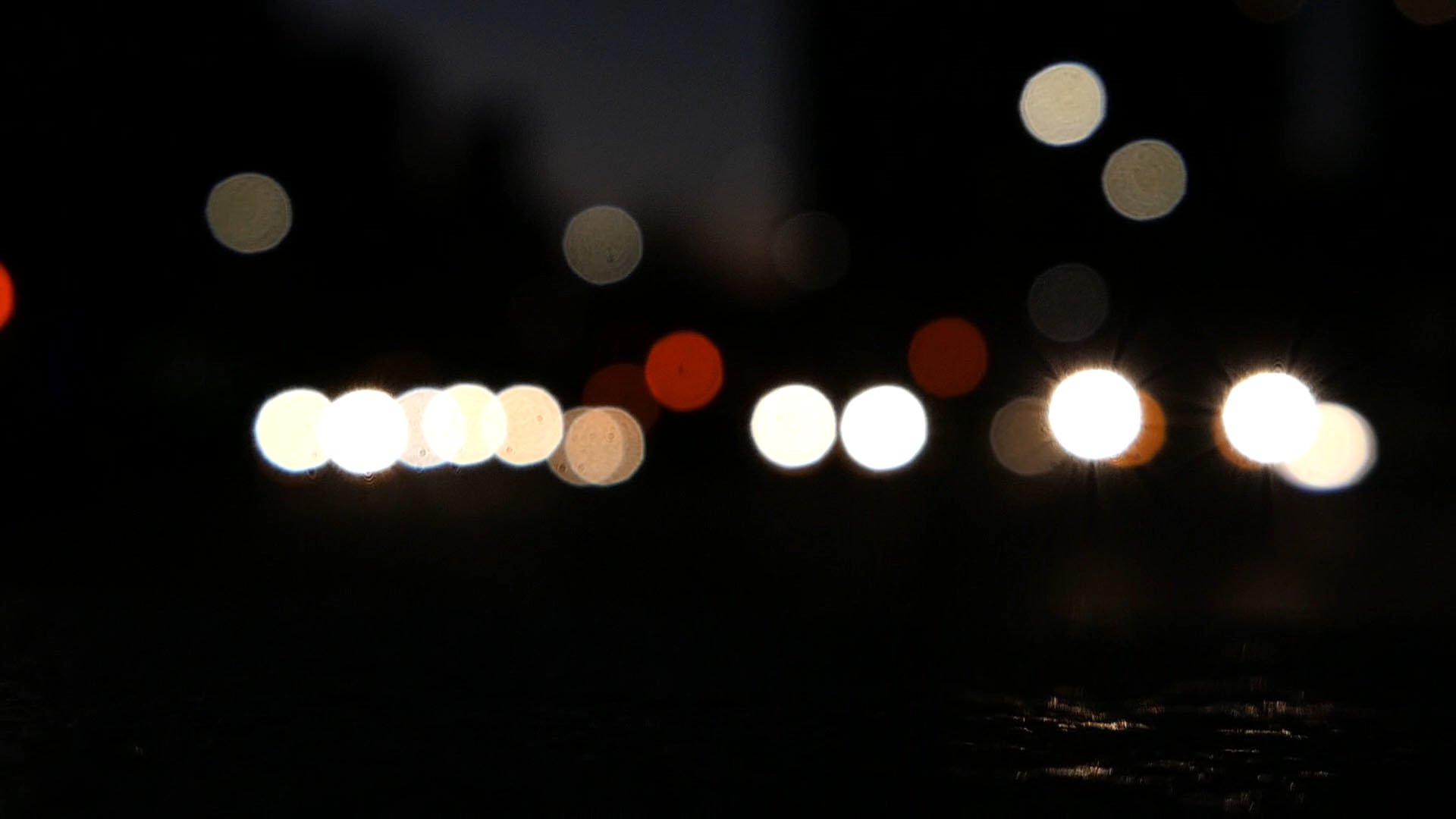 Blurred Car Lights in City