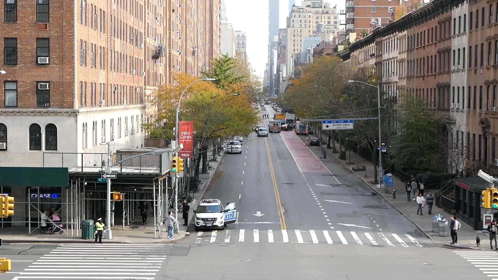 Manhattan Street and Cars