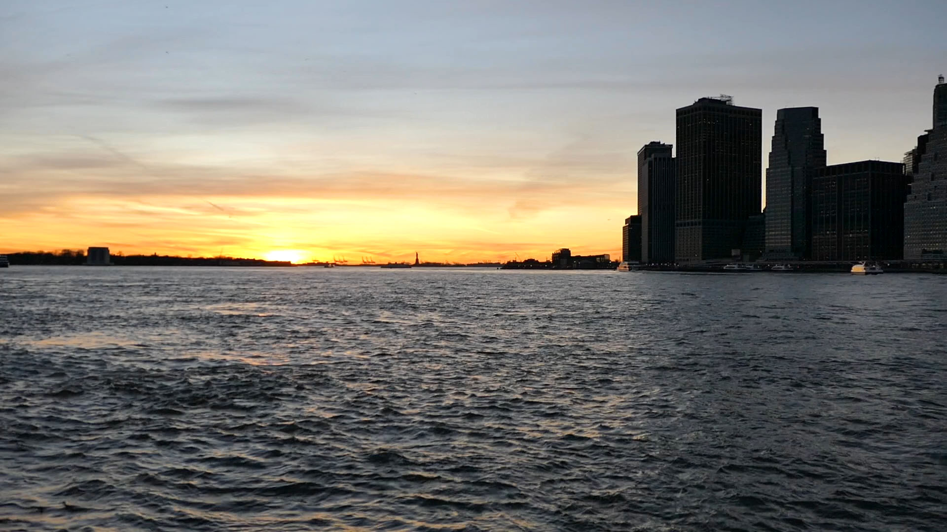 Ocean Over Sunset